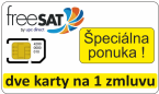 freeSAT Medium HD samostatná karta